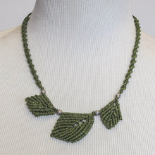 Load image into Gallery viewer, Macrame Leaf Necklace Class: Zoom Recording & Illustrated, Printable Instructions