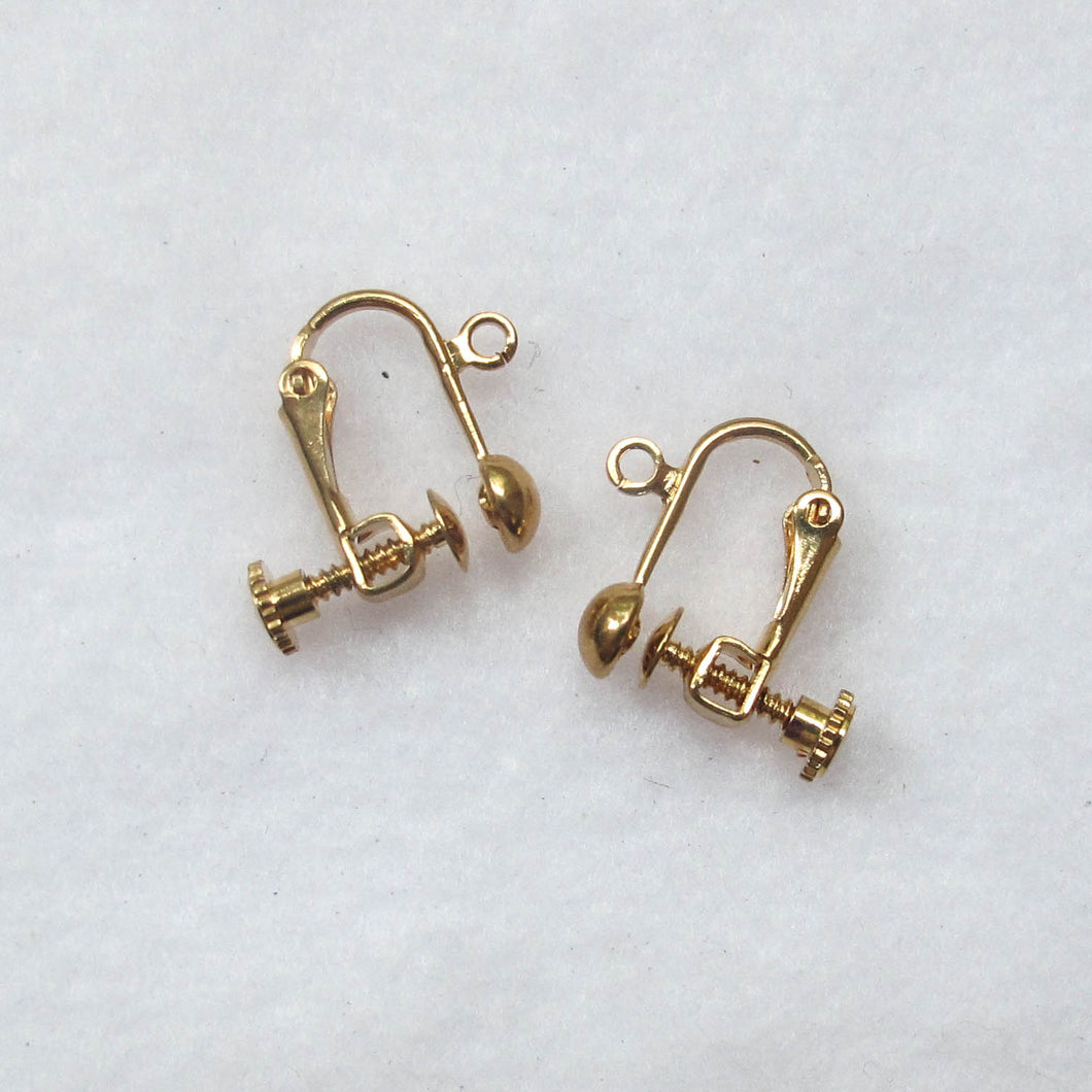 Screw-On, Non-Pierced Earring Findings (click for colors)