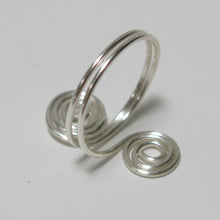 Load image into Gallery viewer, Double Spirals Adjustable Wire Ring