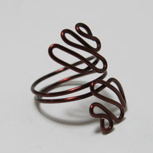 Load image into Gallery viewer, Sideways Squiggles Adjustable Wire Ring