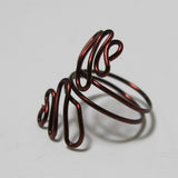 Sideways Squiggles Adjustable Wire Ring