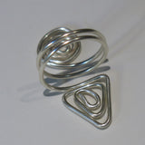 Spiral/Triangle Adjustable Wire Ring