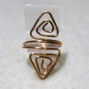 Double Triangles Adjustable Wire Ring