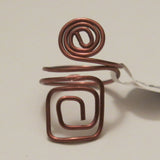 Spiral/Square Adjustable Wire Ring