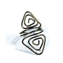Load image into Gallery viewer, Double Triangles Adjustable Wire Ring