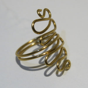 Squiggles Adjustable Wire Ring