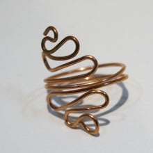 Load image into Gallery viewer, Squiggles Adjustable Wire Ring