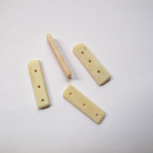 Spacers, Bone, 3-Hole (click for colors)