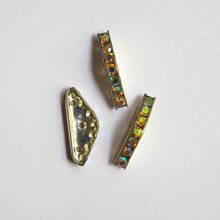 Load image into Gallery viewer, Spacers, Metal with Rhinestones, 3-Hole (click for colors)