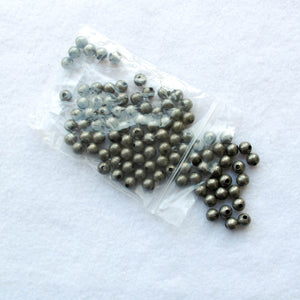 Round Metal Beads, Plated Steel (click for sizes & colors)