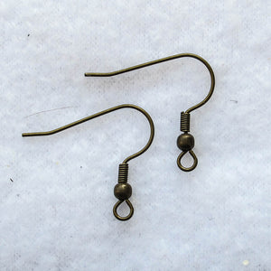 """French"" Hook Earring Wires, Base Metal (click to see available colors)"