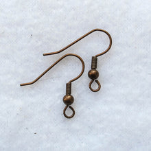 "Load image into Gallery viewer, ""French"" Hook Earring Wires, Base Metal (click to see available colors)"