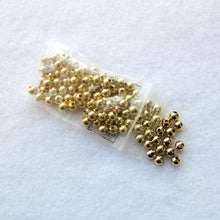 Load image into Gallery viewer, 6mm. Gold-Plated Steel Beads