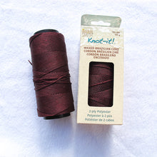 Load image into Gallery viewer, Brazilian Waxed Polyester Cord - .7mm (click for colors)