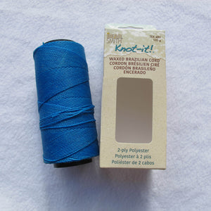 Brazilian Waxed Polyester Cord - .7mm (click for colors)