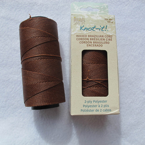 Brazilian Waxed Polyester Cord, Size 1mm. (click for colors)
