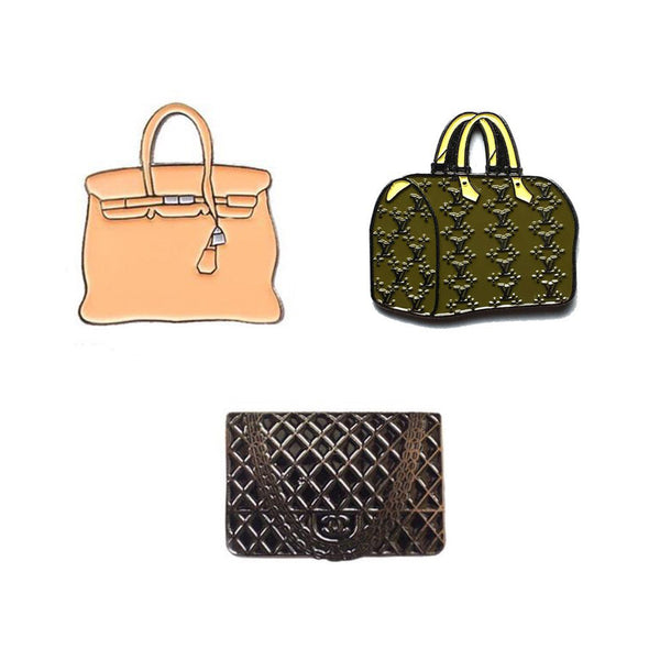 Designer Bags Pin Set