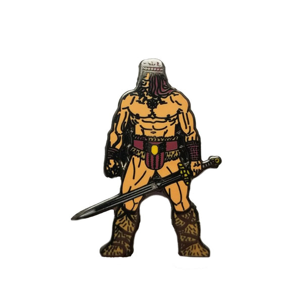 Arnie the Barbarian by Dan Evans Pin