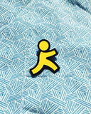 Yellow Running Man Pin
