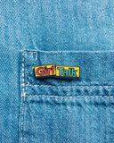 Girl Talk Pin