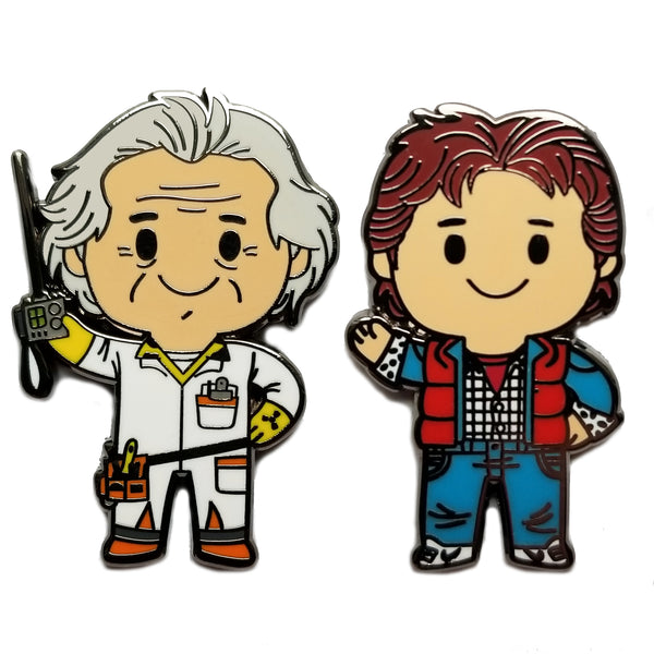 Hill Valley Travelers by Matt Kaufenberg Pin Set