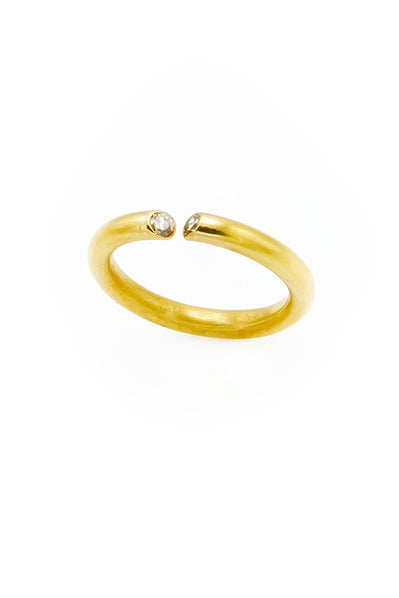 Champagne Diamonds Gold Band Ring - Inaya Jewelry