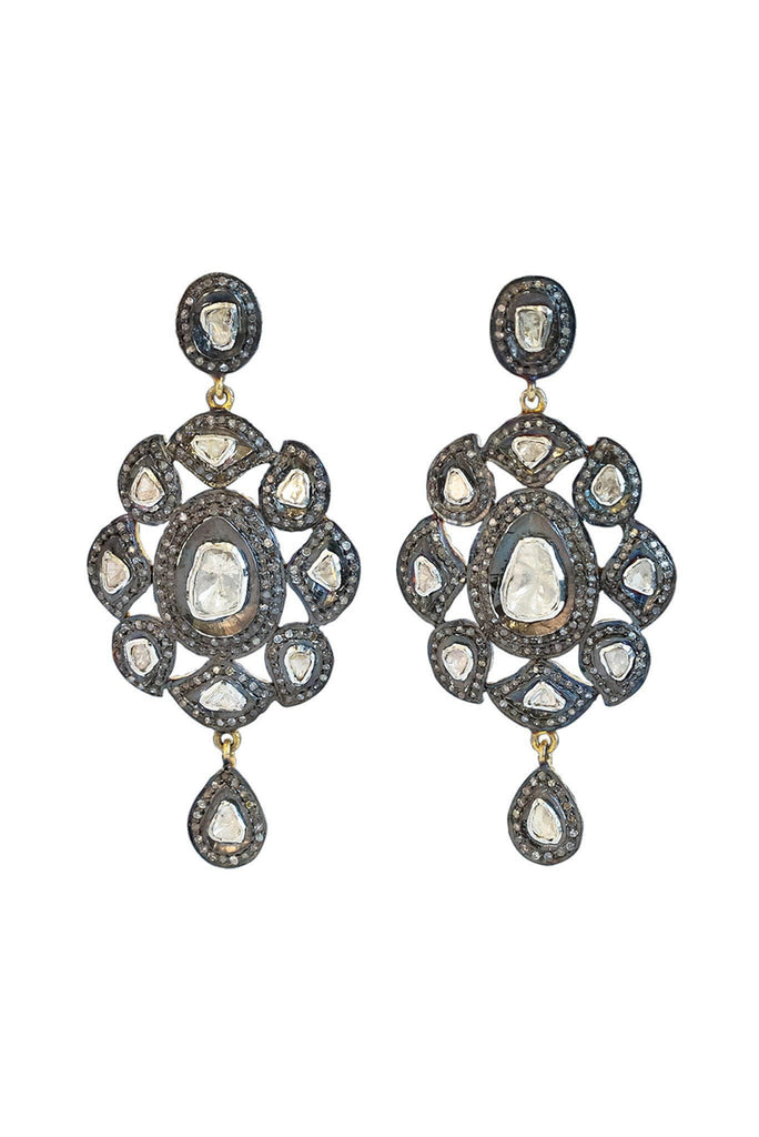 Flat Cut Diamond Earrings - Inaya Jewelry