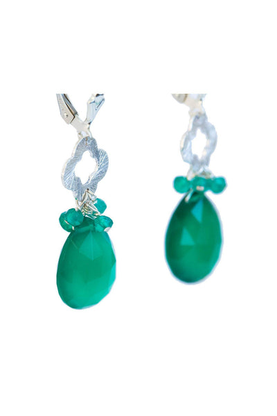 Green Onyx Clove Earrings - Inaya Jewelry