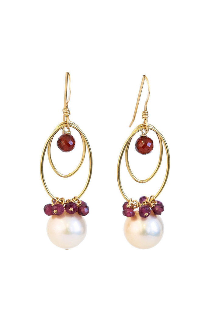 Pearl Loops Earrings - Inaya Jewelry