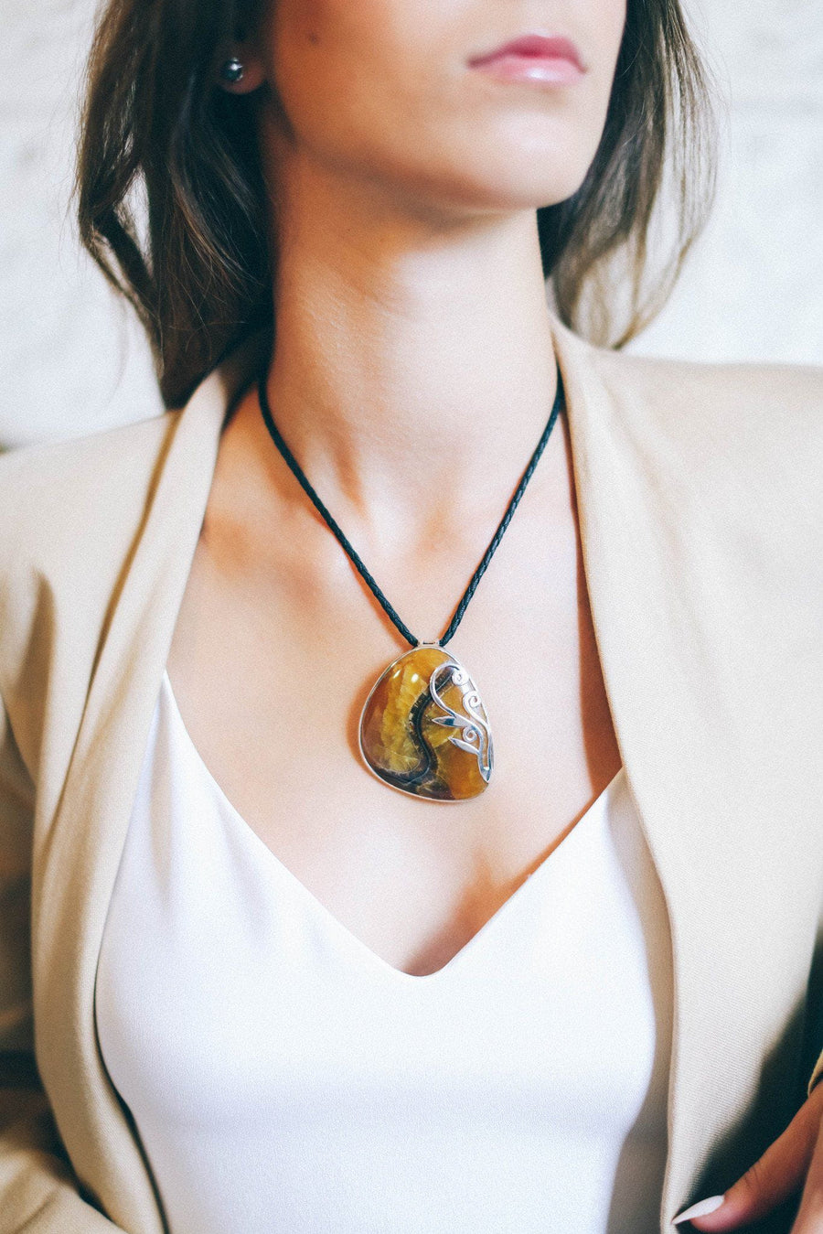 Large Ammonite Pendant - Inaya Jewelry