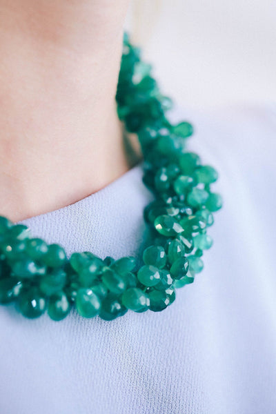Dazzle Color Green Onyx Necklace - Inaya Jewelry