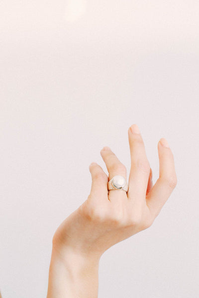 Pearl White Ring - Inaya Jewelry