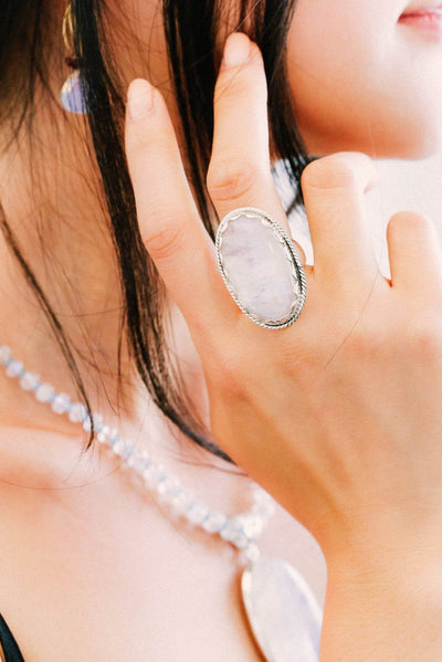 Moonstone Ring - Inaya Jewelry