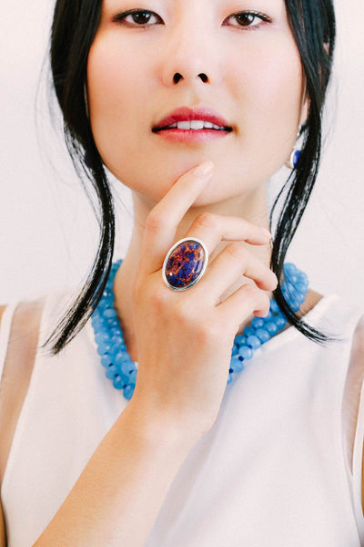 Purple Turquoise Ring - Inaya Jewelry
