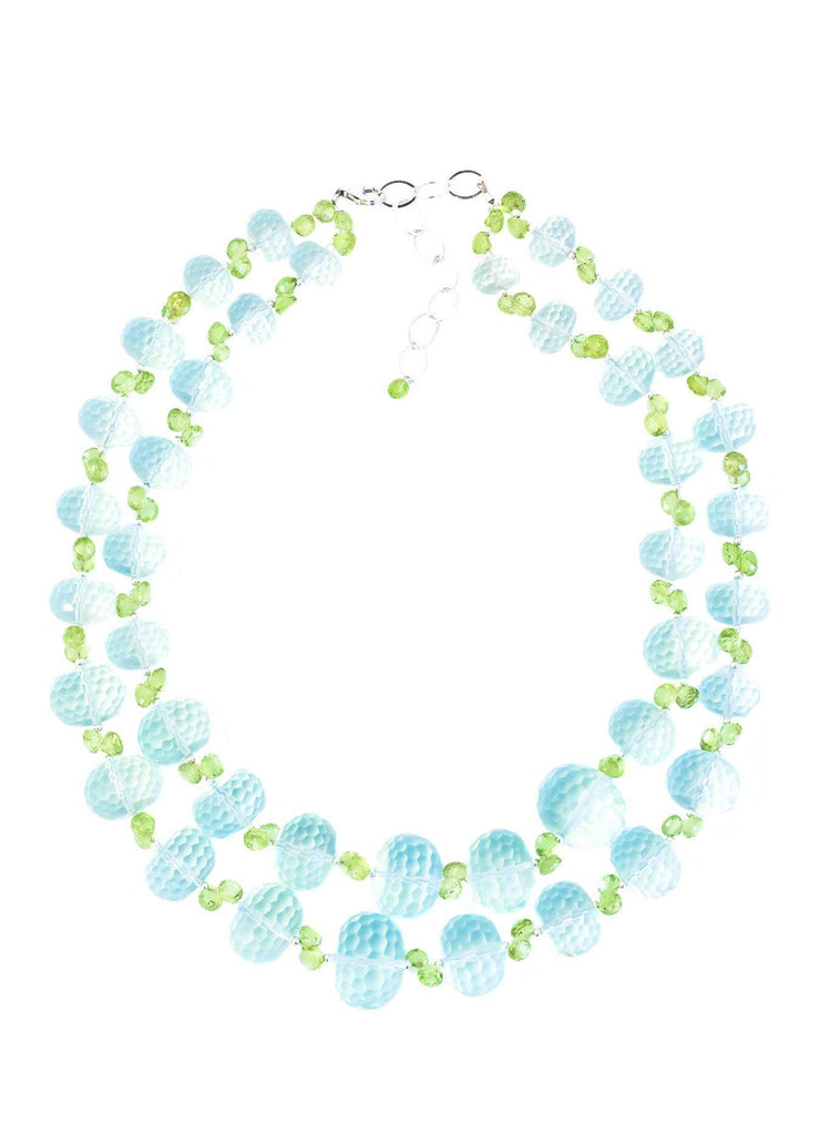 Green Quartz and Peridot Necklace