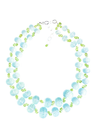 Green Quartz & Peridot Necklace - Inaya Jewelry