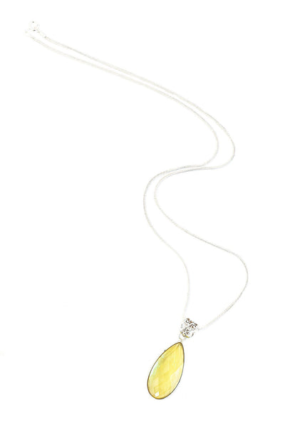 Lemon Quartz Pendant - Inaya Jewelry