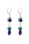 Lapis and Apatite Loop Earrings - Inaya Jewelry