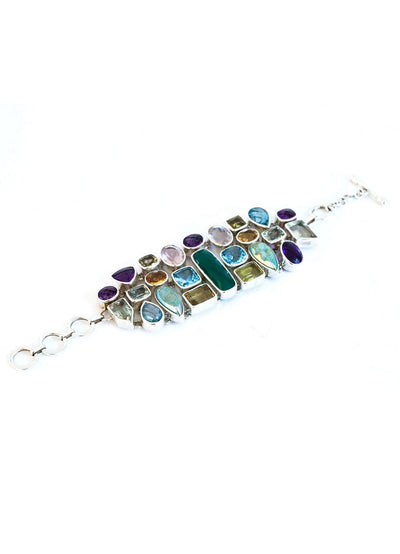 Mosaic Bracelet with Green Onyx - Inaya Jewelry