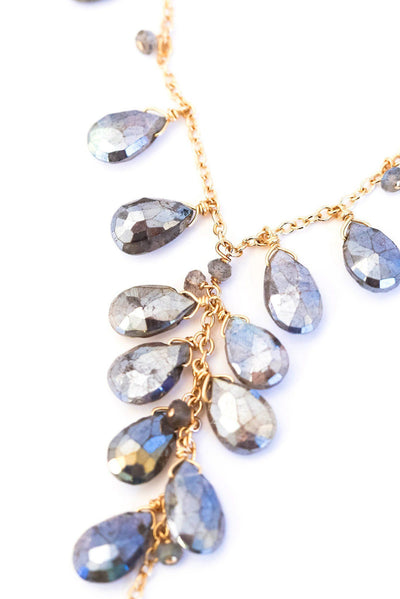 Labradorite Chainy Necklace - Inaya Jewelry