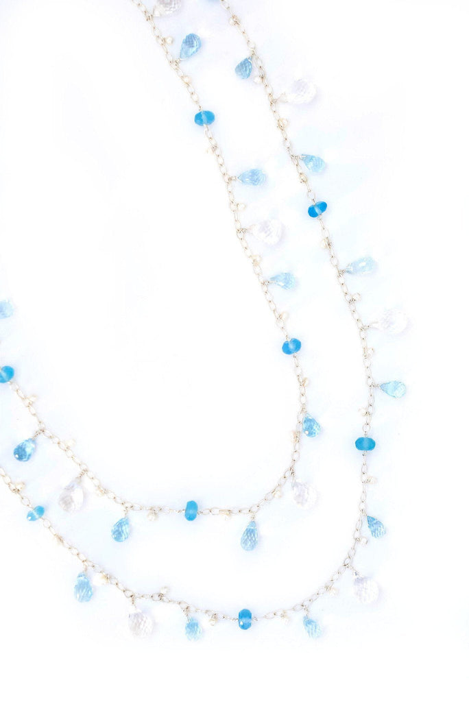 Silver Rivulet Triple-Strand Necklace - Inaya Jewelry
