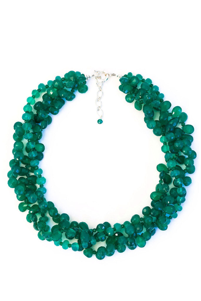 Dazzle Color Green Onyx Necklace