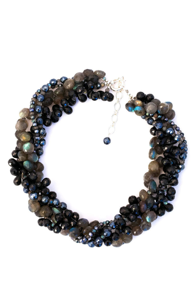 Dazzle Color Black Spinel Necklace