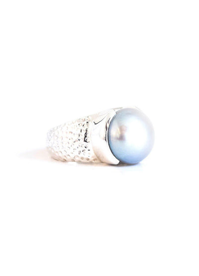 Pearl Grey Ring - Inaya Jewelry