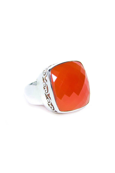 Orange Onyx Ring - Inaya Jewelry
