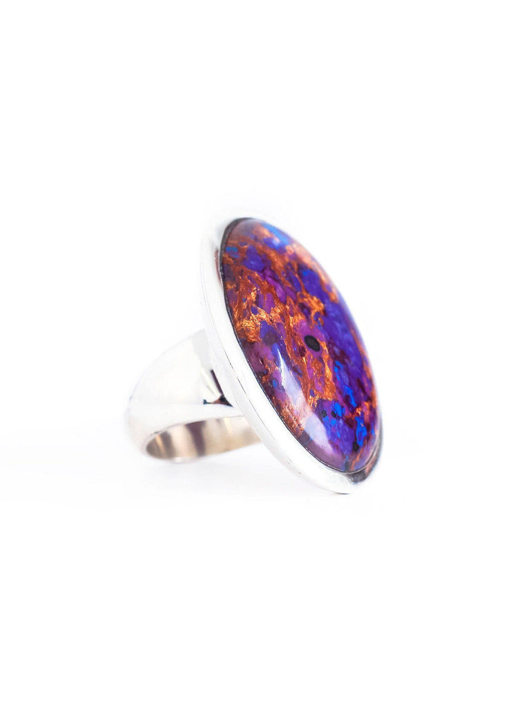 Purple Turquoise Ring