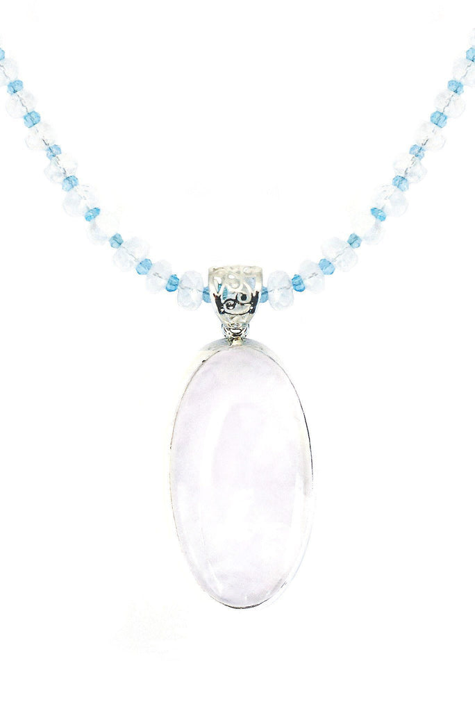 Moonstone Oval on Moonstone Pendant