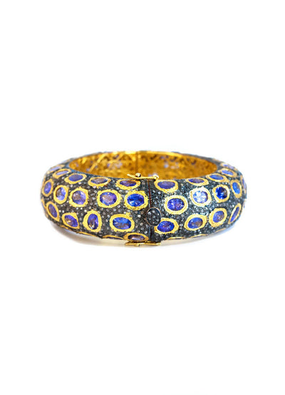 Tanzanite Bangle - Inaya Jewelry