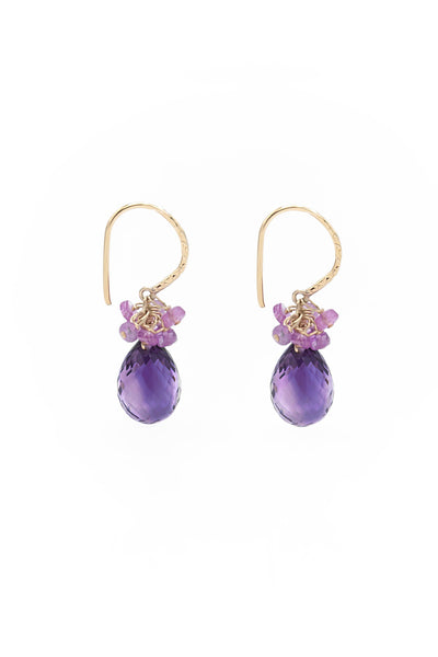 Amethyst Endless Earrings - Inaya Jewelry