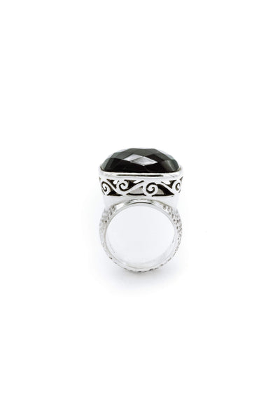East to West Black Onyx Ring - Inaya Jewelry